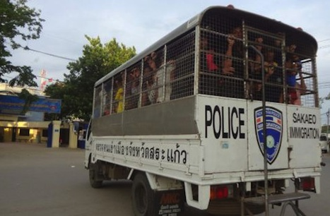truckloads of deportees are continuing unabated, and with an estimated 100,000-250,000 undocumented Cambodian workers still in Thailand, local authorities said they can't do much more than scramble to help those on their way home. Read more at: http://www.ucanews.com/news/thailand-deports-thousands-of-cambodian-workers/71147