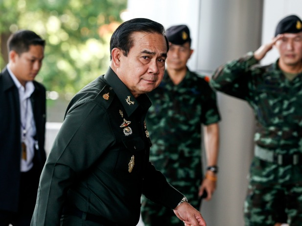 Thai Army chief General Prayuth Chan-ocha arrives before a meeting to discuss the 2015 national budget at the Army Club in Bangkok on June 13, 2014. Prayuth was the head of the junta that seized power in Thailand last month (Athit Perawongmetha/Courtesy: Reuters).