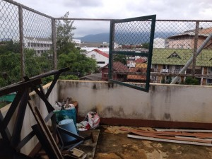 Rooftop of a guesthouse in central Chiang Mai