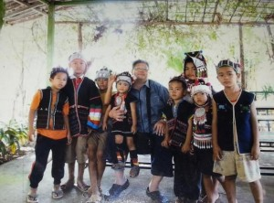 Sriwan Janehuttakarnkit with hilltribe children she teaches at her home in Chiang Rai.
