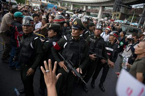 The suspects were arrested in northeastern Thailand - a traditional stronghold of fugitive premier Thaksin Shinawatra