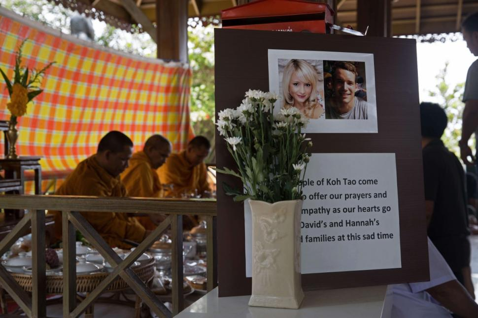 DNA testing cleared 12 suspects in the murders of Hannah Witheridge, 23, and David Miller, 24