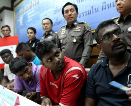 The five are Francis Xavier Arulappan, 35, Mageswaran Balakrishnan, 23, Velanraj Vallanrasen, 22, Gunalan Kumaresan, 25, and Kartik  Sinansamy, 25. Public prosecutors filed the case with the court on July 21 this year. The court was told the five Malaysians, together with accomplices still at large, had used computerised equipment to make 705 fake credit cards from April 2 to April 26, 2009. The fake cards were linked to real credit card accounts with commercial banks in countries such as France, Italy, Canada and Denmark. The thieves used the fake cards 142 times in many provinces, including Krabi, Trang and Songkhla, to withdraw a total of 500,000 baht in cash. Crime Suppression Division police arrested the five men in April this year. The Criminal Court sentenced each of the five to a total 568 years in jail (four years for each of the 142 offences). Their confessions convinced the court to halve their jail terms to 284 years. The court finally capped their imprisonment period at 50 years in accordance with Thai law. It also ordered that they repay the 500,000 baht to the damaged banks.
