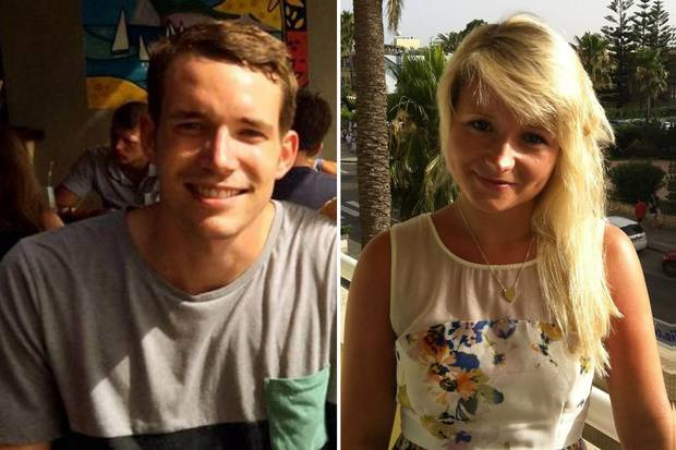 Victims: David Miller, 24 and Hannah Witheridge, 23