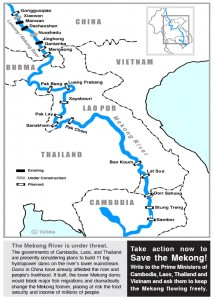 Map of Mekong Dams
