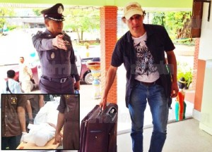 Mathew Mannen, 40, was caught by border police