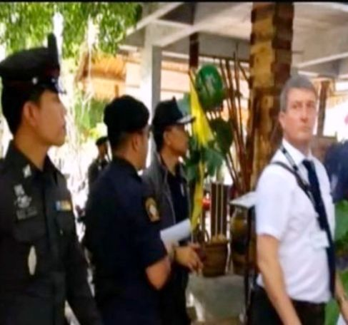 Scotland Yard officials with Thai police on Koh Tao Island