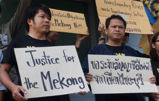 The NGO, made up of representatives from several countries through which the Mekong flows, is seeking an injunction in a Thai court to suspend EGAT's plans to buy electricity from the Xayaburi dam.