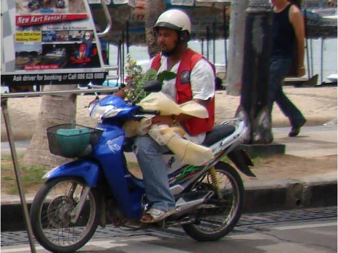 A man who pretended to be a motorcycle taxi rider told her he could take her back home.