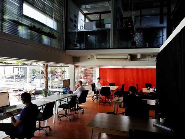 Punspace coworking space in Chiang Mai, Thailand