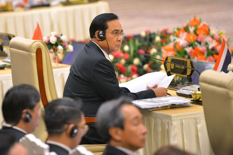 Gen. Prayuth Chan-ocha, chairman of Thailand's military junta and Prime Minister,at international summit in Naypyidaw, Myanmar