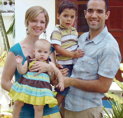 Troy and Cora Roberts, with their son Chanan and daughter Rinnah.