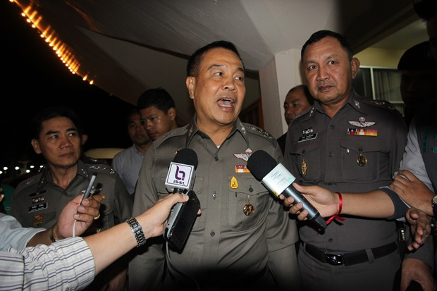 Royal Thai Police Commissioner Pol Gen Somyot Phumphanmuang has warned of tough legal action against anyone posting false information on social networks criticising the handling of the Koh Tao murders case by the police - See more at: http://www.thephuketnews.com/thailands-top-cop-warns-of-legal-action-over-critical-koh-tao-social-media-posts-49414.php#sthash.KzAnc0vf.dpuf