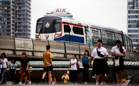 Money will be flowing to mass transit systems in Bangkok.