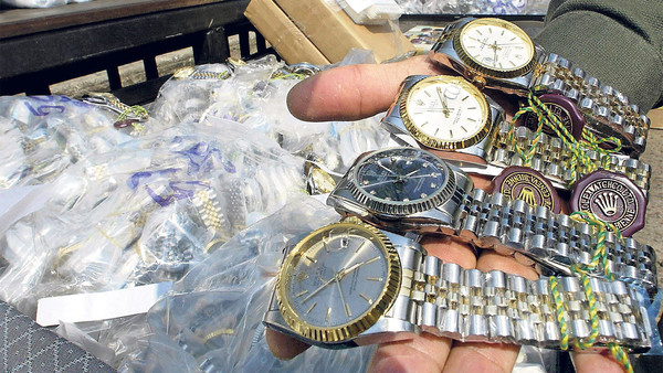 Pick a brand: fake watches seized in Bangkok bear the Rolex name