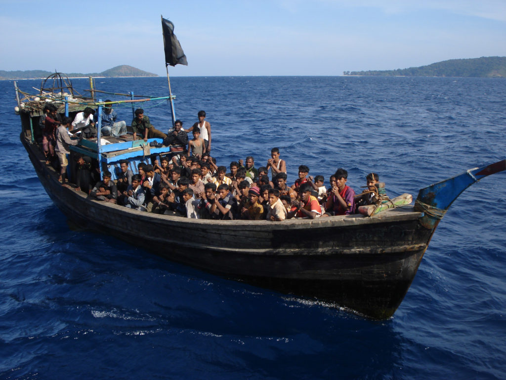 Thousands of Rohingya board boats operated by human traffickers each year aiming to reach Malaysia