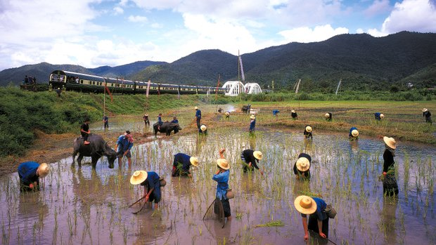 China construct two dual-track rail lines covering a combined 867 km (542 miles) and buy two million tonnes of rice.
