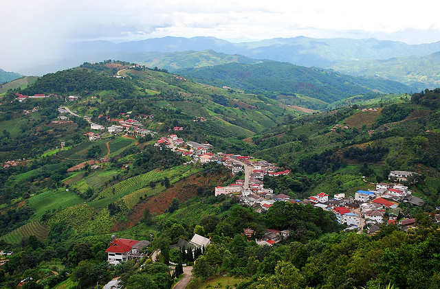 Mae Salong is a mountainside Chinese village settled by the 93rd Regiment of the KMT after the Chinese Revolution.