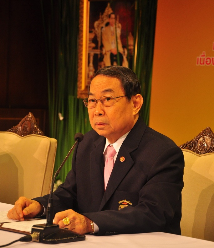 The President of the Thai-Myanmar Cultural and Economic Cooperation Association (TMCECA) Gen Chettha Thanajaro - See more at: http://thainews.prd.go.th/centerweb/NewsEN/NewsDetail?NT01_NewsID=WNECO5803010010008#sthash.lsvGhjbn.dpuf