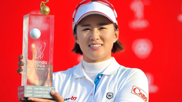 Yang won the Honda LPGA Thailand by two strokes