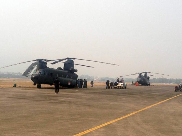 "Singapore Defence Minister Ng Eng Hen said, ""It [the Chinooks] will be equipped with a 5,000-litre water bucket from the Singapore Civil Defence Force."