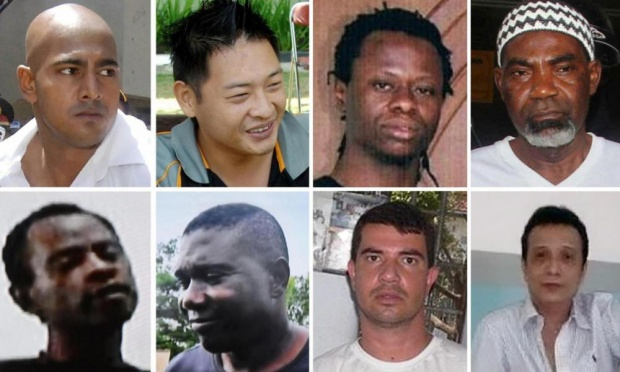 "Those executed were ""Bali Nine"" duo Andrew Chan and Myuran Sukumaran, both Australians; Rodrigo Gularte, a Brazilian diagnosed with a mental illness; Martin Anderson of Ghana, Raheem Agbaje Salami, Sylvester Obiekwe Nwolise and Okwudili Oyatanze of Nigeria; and Indonesian national Zainal Abidin."