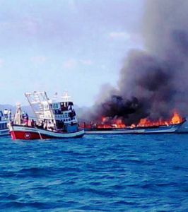 Fire on ferry in Thailand which killed 12-year-old girl