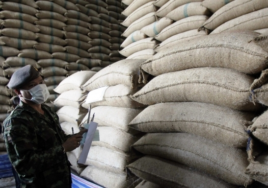 1.75 million tonnes of adulterated and rotten rice stored at 186 warehouses throughout the country.
