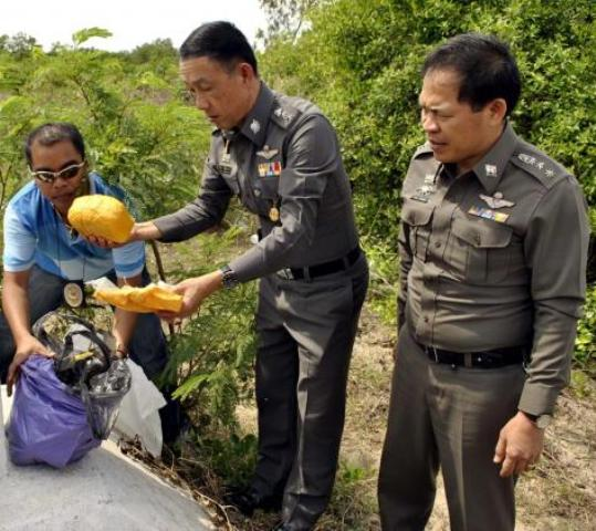 A team of police went to the spot and found 100,000 speed pills in the bag - File Photo