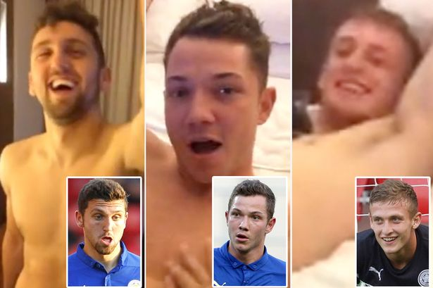 Three Leicester City footballers were captured on video verbally abusing Thai women