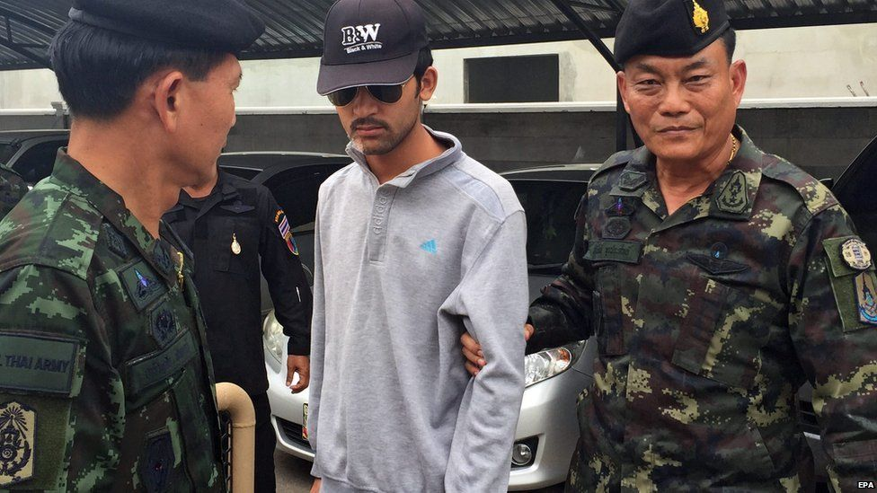 The suspect was arrested in Sa Kaeo province, east of Bangkok on the border with Cambodia