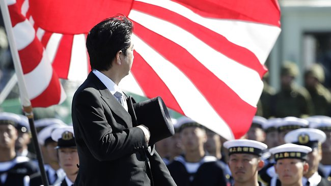 Japan's ruling coalition, led by nationalist Prime Minister Shinzo Abe, pushed the laws through in the early hours of the morning after days of tortuous debat