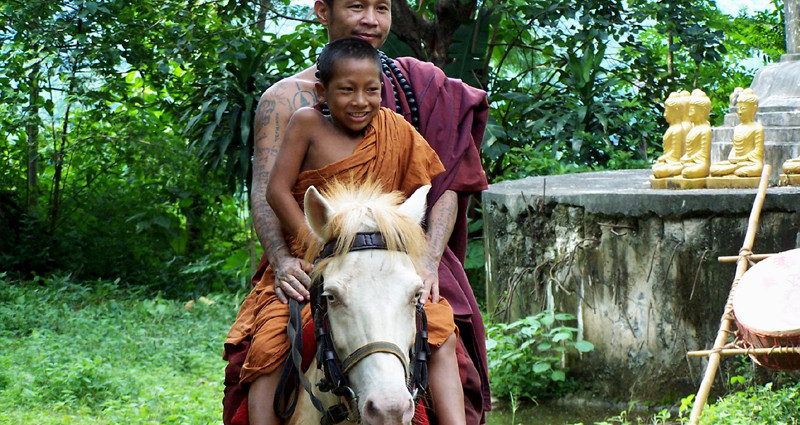 Abbot Kru Bah and Khun Mae Ead and the children of the Golden Horse Temple are totally dependent on outside contributions
