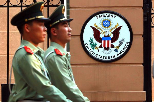 The U.S. Embassy in Beijing issued a rare alert on Thursday warning of threats against Westerners