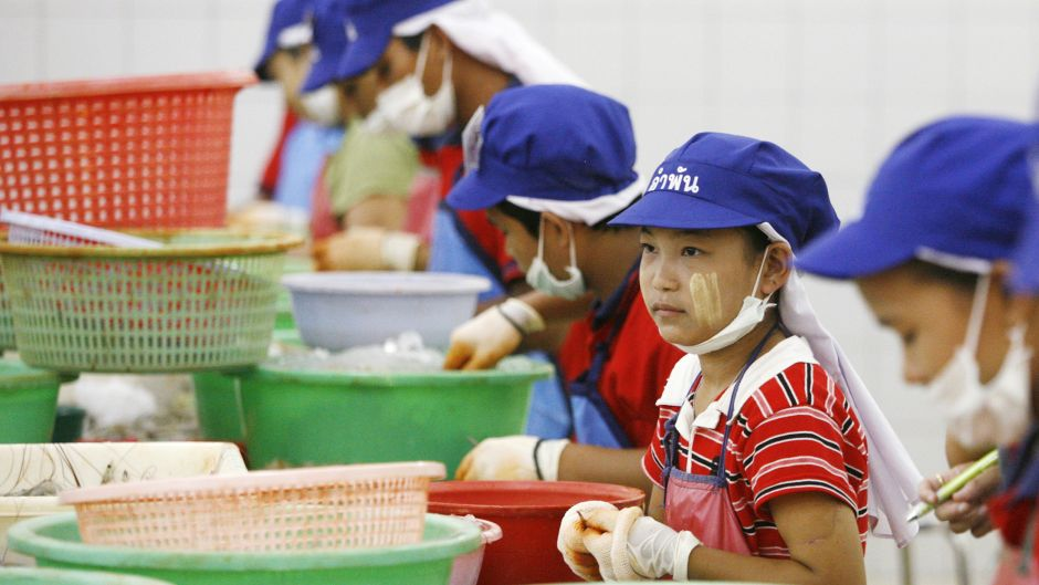 Thailand's gutted, peeled and deveined shrimp, brought to you by 13-year-old migrants from Myanmar.