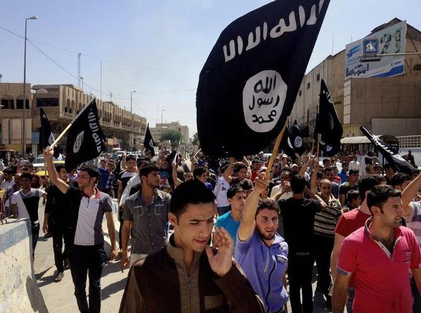 """""""Death to the Jews"""" chanted the crowd waving the black flags of the Islamic State, or ISIS as it used to be known."""