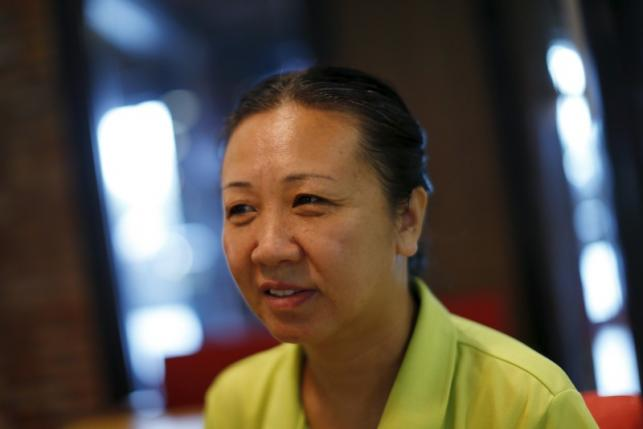 Chinese dissident Liu Xuehong speaks during an interview with Reuters in Bangkok February 2, 2016.- Photo Jorge Silva
