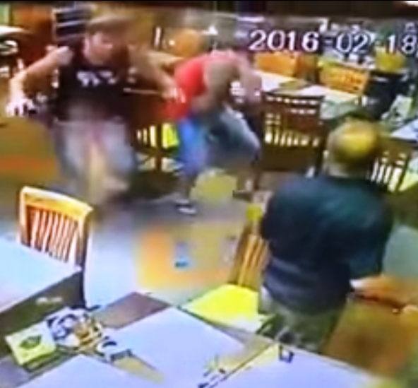 Three Russians, all in their 20s, acted as Zombies at Pattaya's Surf Kitchen Restaurant
