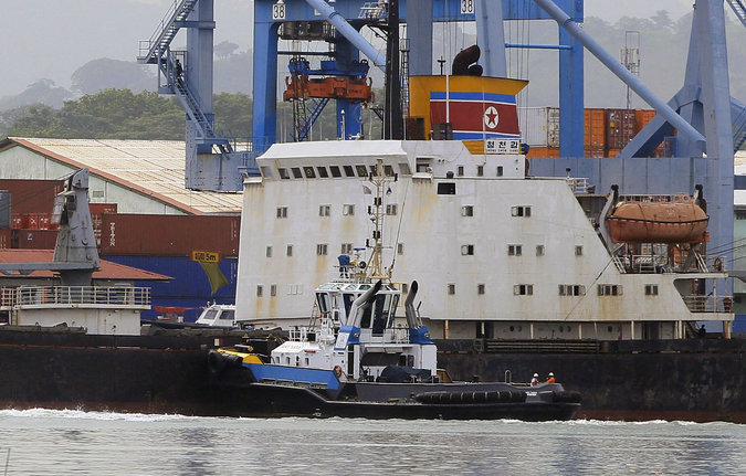 The ship is among 31 vessels blacklisted by China's Ministry of Transport after they were covered by harsher sanctions on North Korea that were approved by the U.N. Security Council last week.