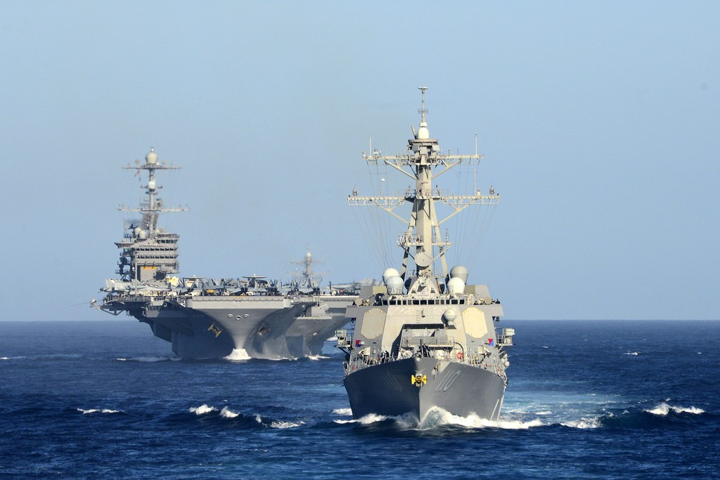 U.S. Navy The John C. Stennis Carrier Strike Group underway to South China Sea
