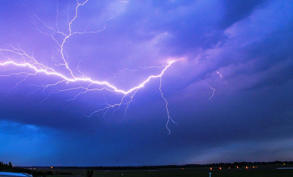 Thunderstorms are expected while the strong winds will also help alleviate the haze condition.