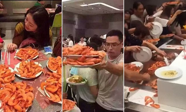 Facebook video shows Chinese tourists shovelling food on their plates at Thai buffet