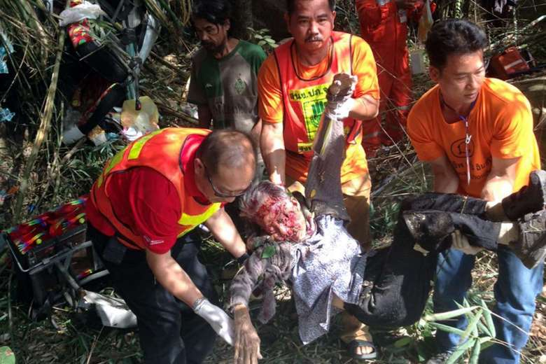 """The first six days of the """"seven dangerous days"""" of Songkran running from April 11 to 17 saw 397 people killed"""