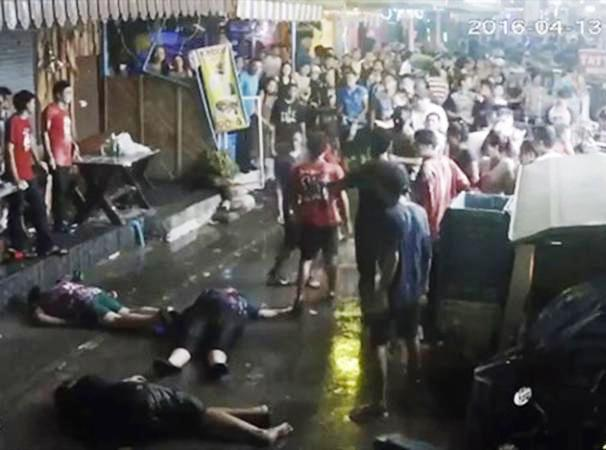 The assault appears to leave the victims unconscious