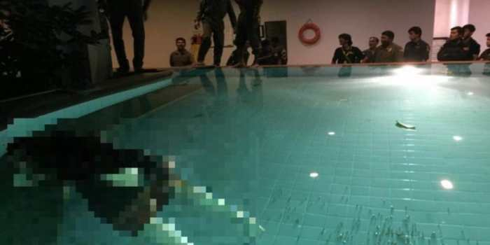 police officers found the already dead body of Doris Erika Beger, 57, floating inside the swimming pool.