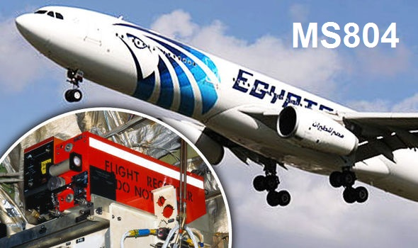 Flight MS804 had two black boxes, the cockpit voice recorder and the flight data recorder, which has yet to be found.