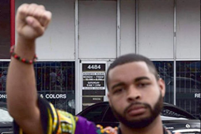 Five days before the shooting he posted a rant against white people on a black nationalist Facebook group called Black Panther Party Mississippi, denouncing the lynching and brutalising of black people.