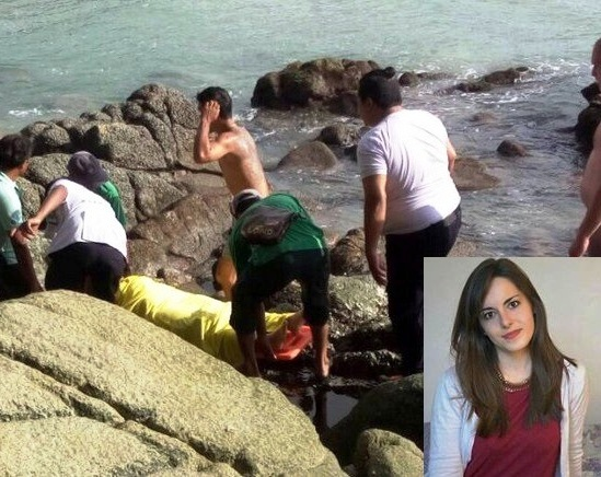 Anne Sophie Faisant Torrijos, 23 was swimming with friends when the surf dragged her away about 30 metres away from the beach.