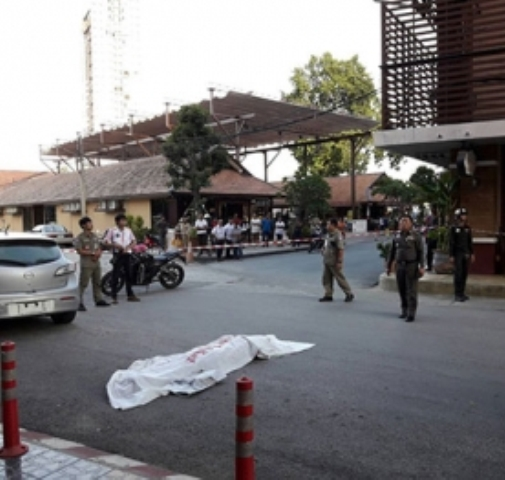 Perka Laine jumped to death from the sixth floor of the Arcade Inn Hotel on Kaewnawarat Road