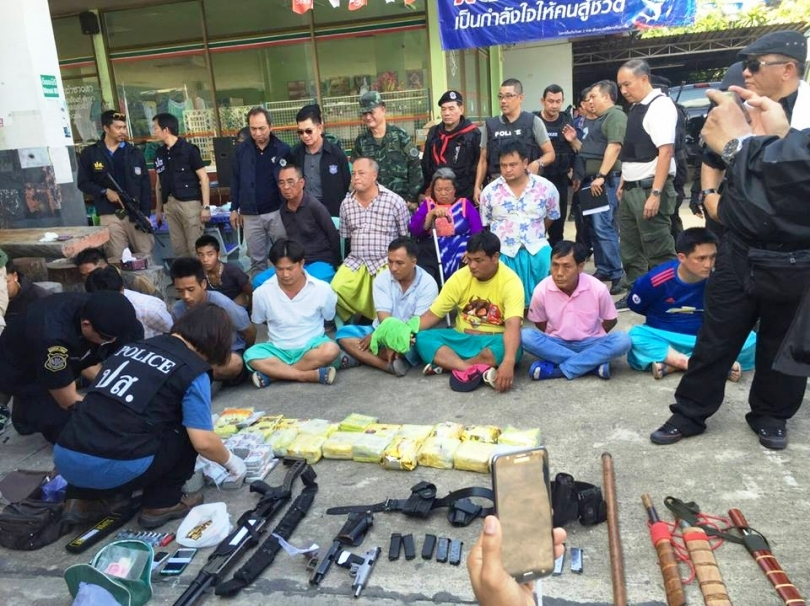 Drug-suppression police Tuesday arrested alleged drug baron Laota Sanli and 13 others in Chiang Mai in a sting operation